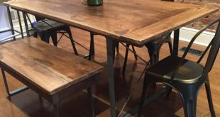kitchen tables rustic industrial reclaimed barn wood table by woodenwhaleworkshop QMXYVMI