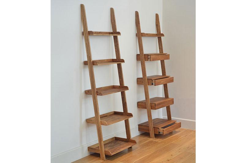 ladder shelves oak ladder shelf RIHVEGB