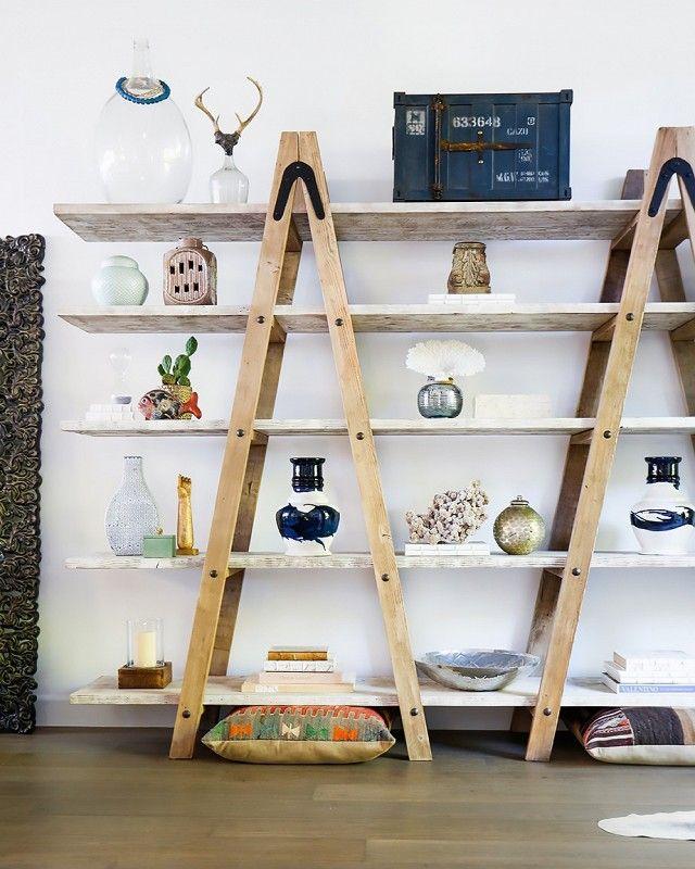 Some unique ladder shelves ideas