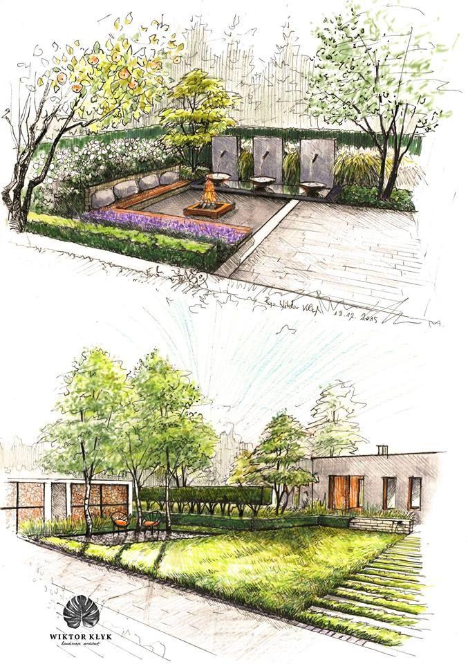 landscape designs gardens, garden design, landscape design, gardening, tuinen, jardin, modern  gardens OUTRZHA