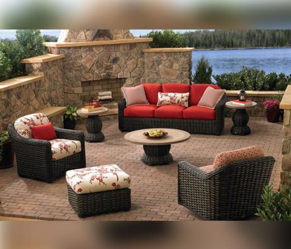 lane venture south hampton wicker patio furniture BMFSWYL