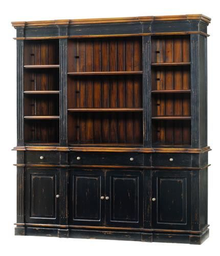 large bookcase love the distressed black. OAQFGEG