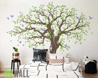 large family tree wall decal, nursery tree wall decals, tree mural, vinyl EMJNXDA
