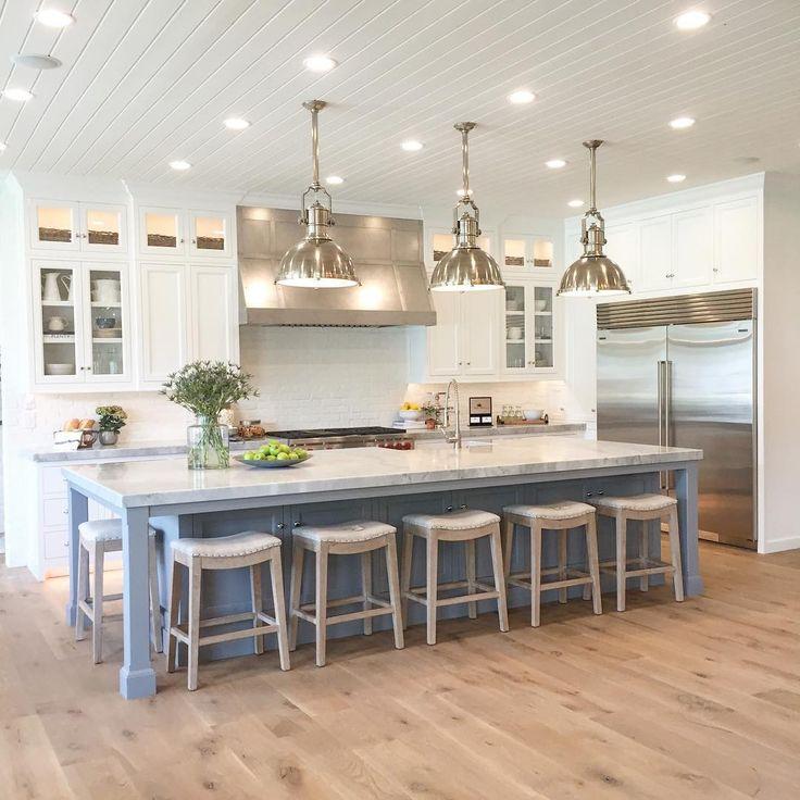 large kitchen island farm style island kitchens NMQMZDX