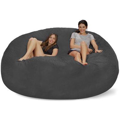 latitude run extra large microsuede bean bag sofa u0026 reviews | wayfair ZMLLBFO