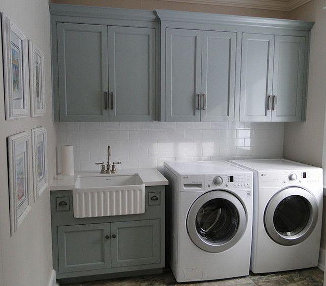 laundry room cabinets benjamin moore cc-690 piedmont gray. laundry room cabinetsbasement ... OBSPECS