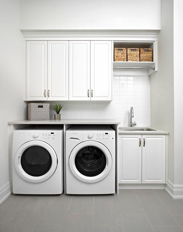 laundry room cabinets white modern laundry room features raised panel cabinets over an enclosed  washer XPXMXLK