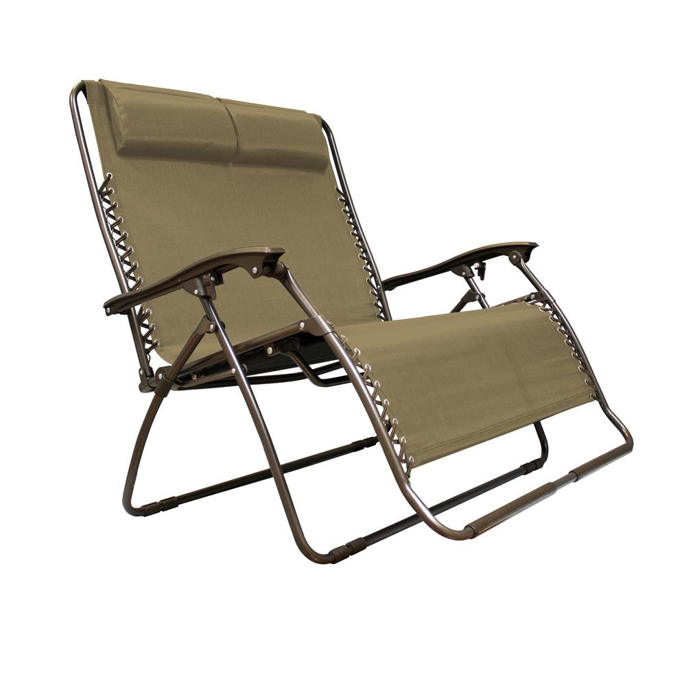 lawn chairs infinity love seat beige metal textilene reclining patio lawn chair XEECYYG