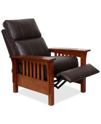 leather recliner chairs harrison leather pushback recliner FNDPCSY