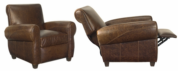 leather recliner chairs tribeca  PKPGSYT