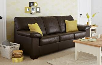 leather sofa bed pavilion leather and leather look 3 seater deluxe sofa bed essential TDOJWMP