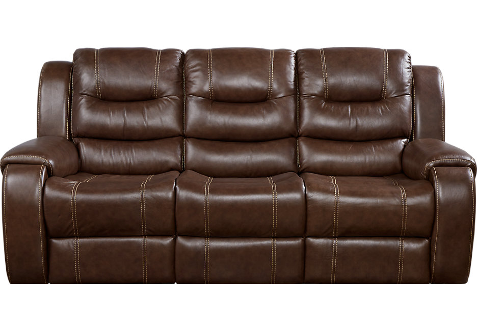 leather sofa veneto brown leather reclining sofa - reclining sofas (brown) XRISBQL
