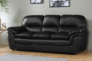 leather sofas rochester black leather 3 seater sofa PKDQJNV