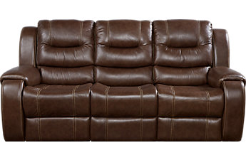 leather sofas veneto brown leather reclining sofa SVQHYVY