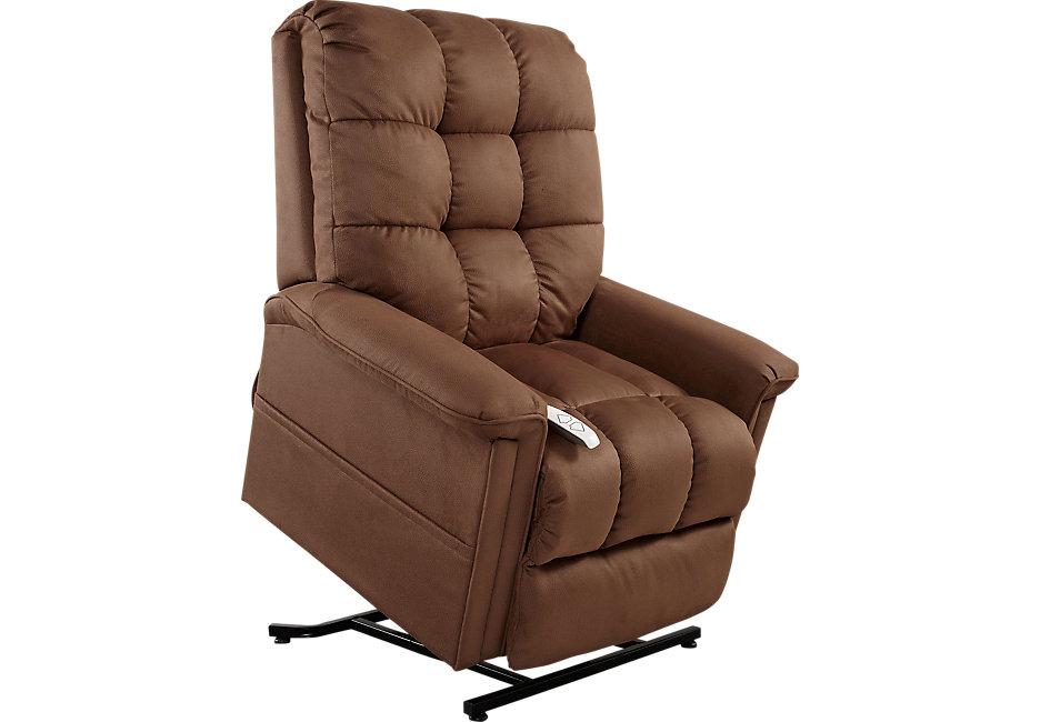 lift chairs gatlinburg rust lift chair recliner - recliners (red) QXUZMMV