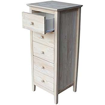 lingerie dresser international concepts lingerie chest with 5 drawers, unfinished GKPEDYV