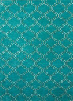 lisbon quatrefoil turquoise rug UYFHTNO