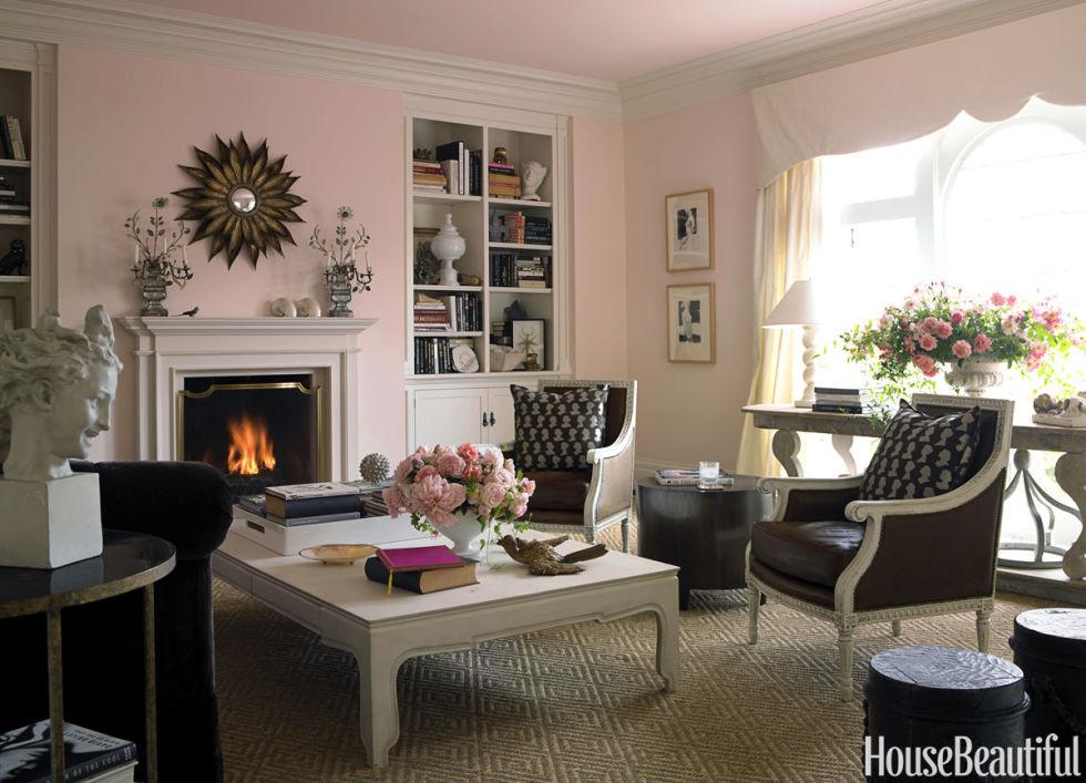 living room paint ideas soft pink HJRSUQA