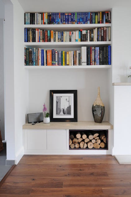 living room storage niches are perfect for organized built-in storage solutions. even simple  shelves looks NILLRUY