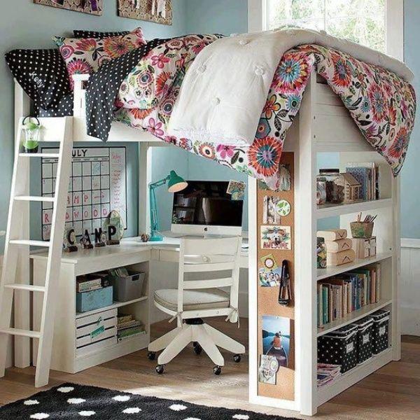 loft beds with desk 20 loft beds with desks to save kidu0027s room space | kidsomania VACGQHQ