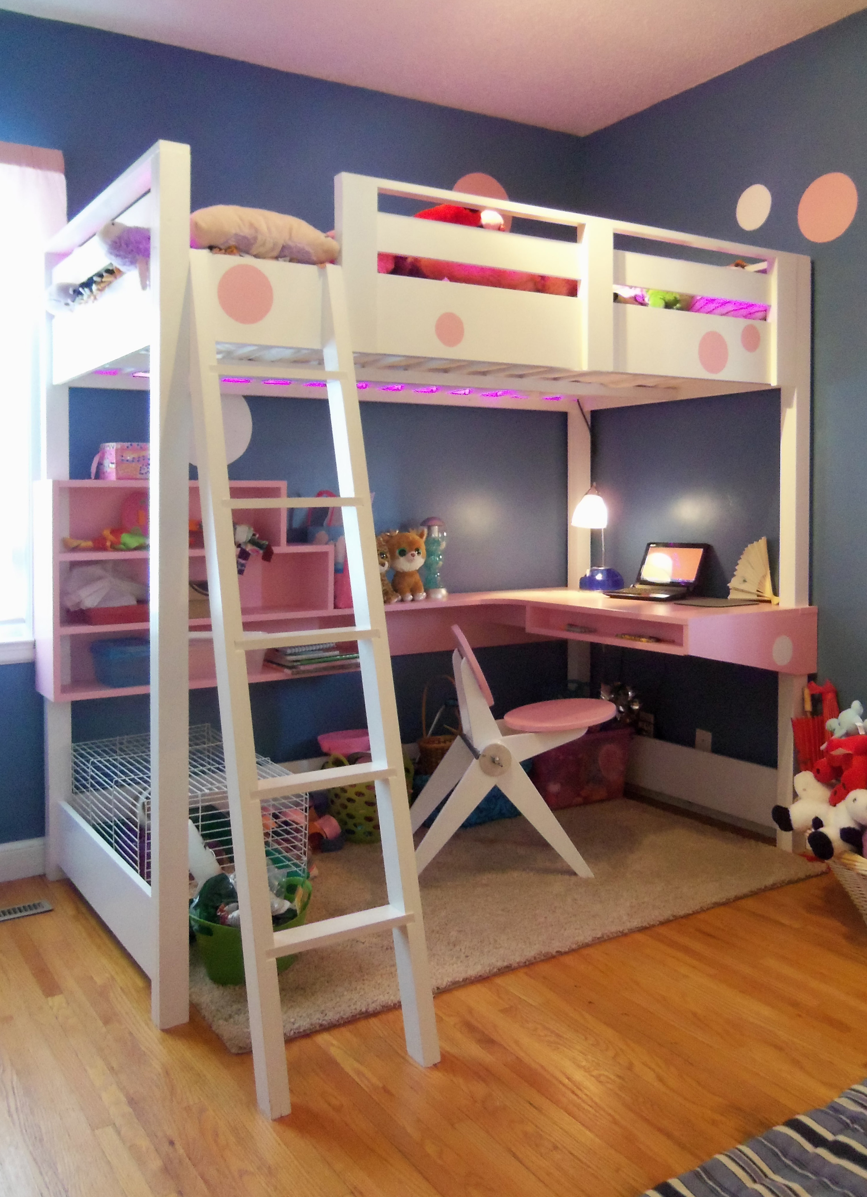 loft beds with desk ana white | loft bed with desk... - diy projects QHQCIXC