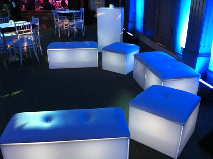 lounge furnitures blue, lighted, lounge furniture and tables LUFIBKP