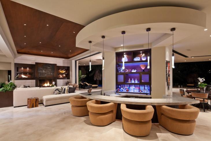 luxurious living room bar idea IHEGHOD