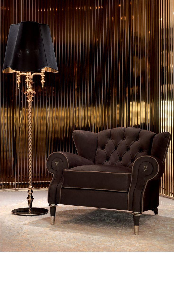 luxury lamps. contemporary dark armchair. luxury furniture. interior design WCIXIIP