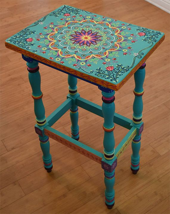 made to order. sold. this is an example. hand painted furniture, boho YJWKXPC