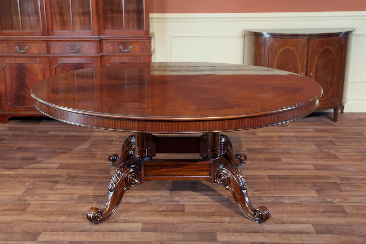 mahogany furnitures ... extra large amp heavy 72 round dining tables ward log home in RWFUOAS