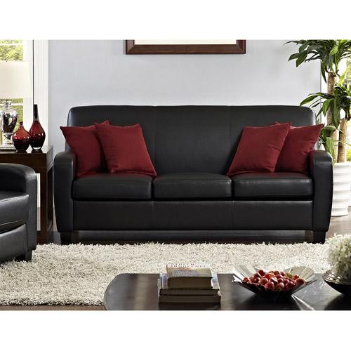 mainstays faux leather sofa, black BZTDUKL