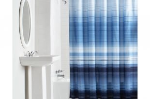 mainstays ombre stripe fabric shower curtain - walmart.com XVHEUCY