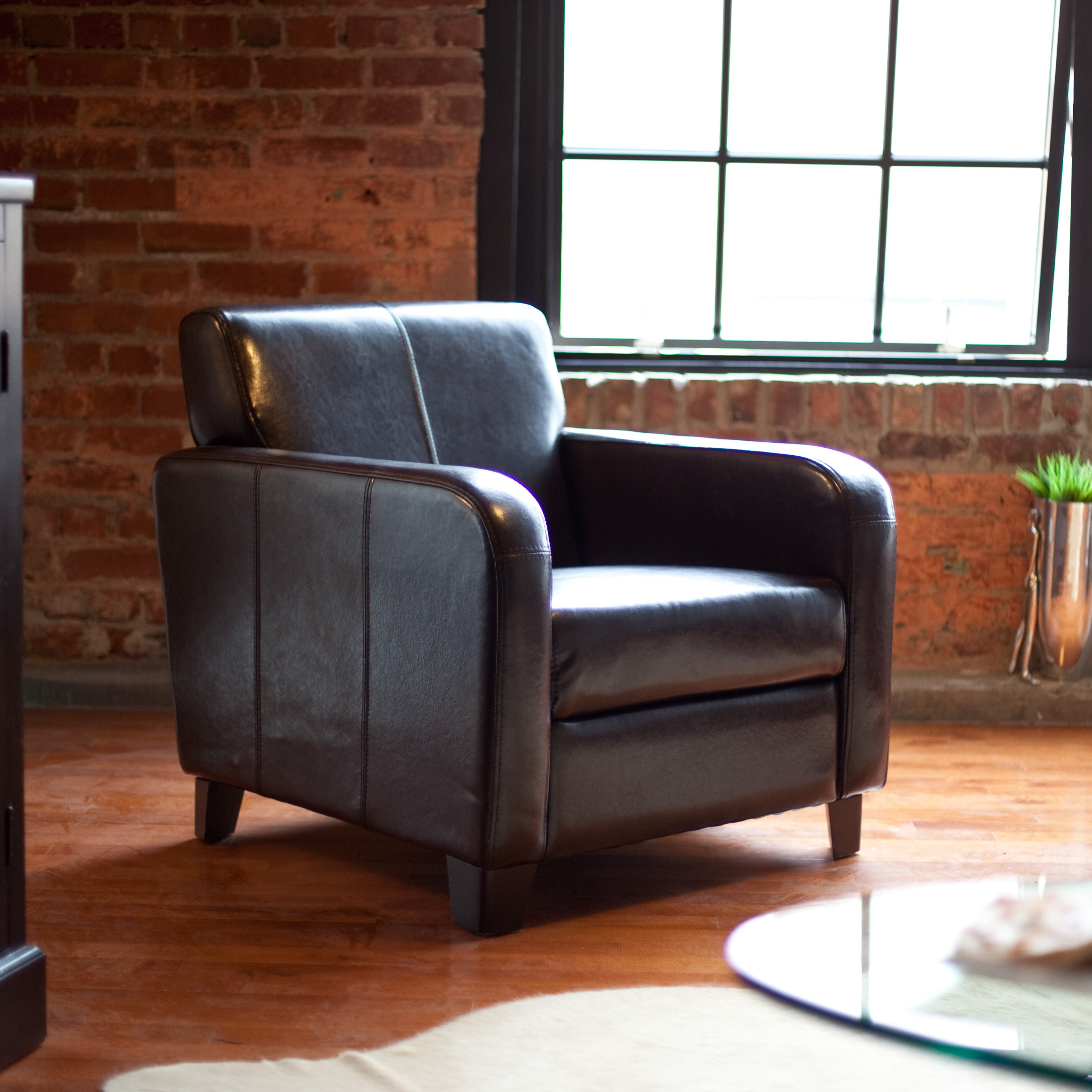 maxon leather club chair - accent chairs at hayneedle CVXMTDI