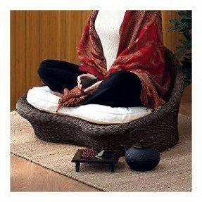 meditation space - gaiam rattan meditation chair ( i would YLDRQXQ