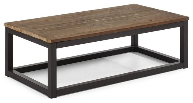 metal coffee table ... coffee table, civic brown coffee table wood and metal contemporary  design RBFPVXZ