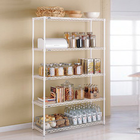 metal kitchen shelves - intermetro kitchen shelves | the container store QMAUVBB