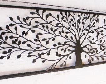 metal wall art decor, metal wall decor, metal tree wall art, tree decor QWIRJIS