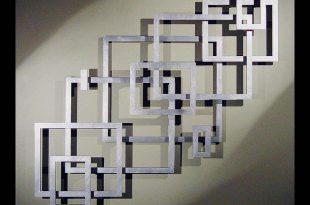 metal wall art unique wall art..another possible diy with frames painted brushed silver GTQBXAK