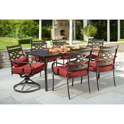 middletown 7-piece patio dining set with chili cushions NYLRTUC