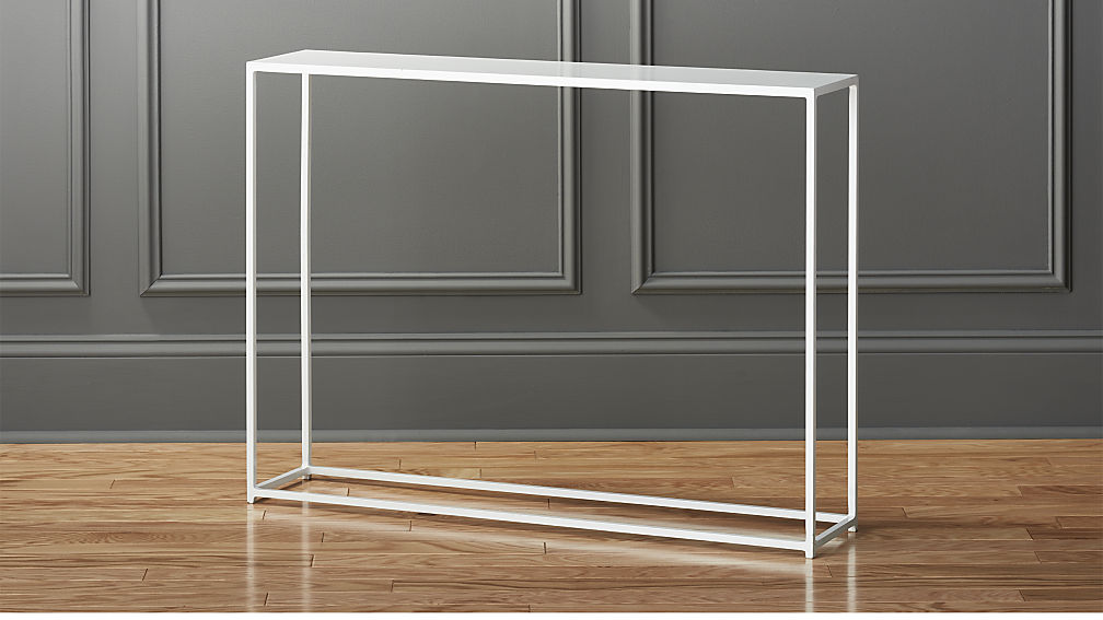 Designer white console table