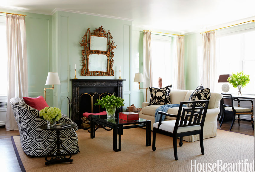 mint green living room UAIBHEV