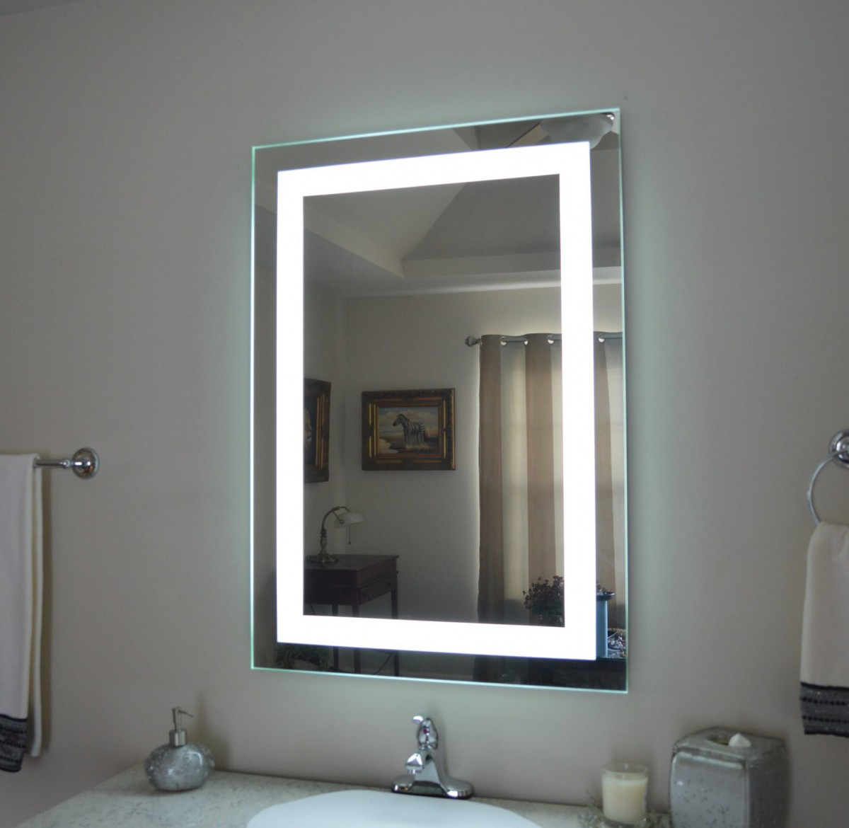 Mirrored Bathroom Furniture Two In One Elisdecor Com