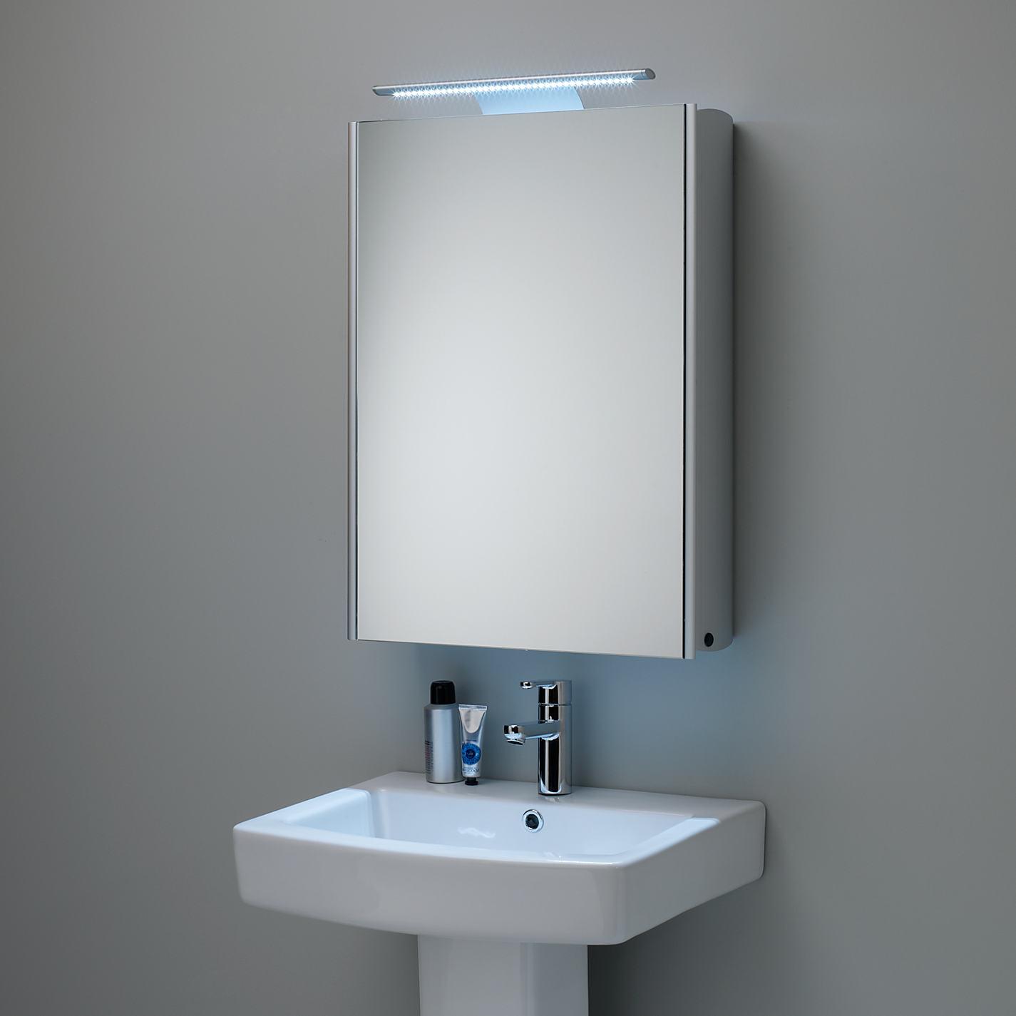 Mirrored Bathroom furniture image of: mirrored bathroom cabinet HODNLVS