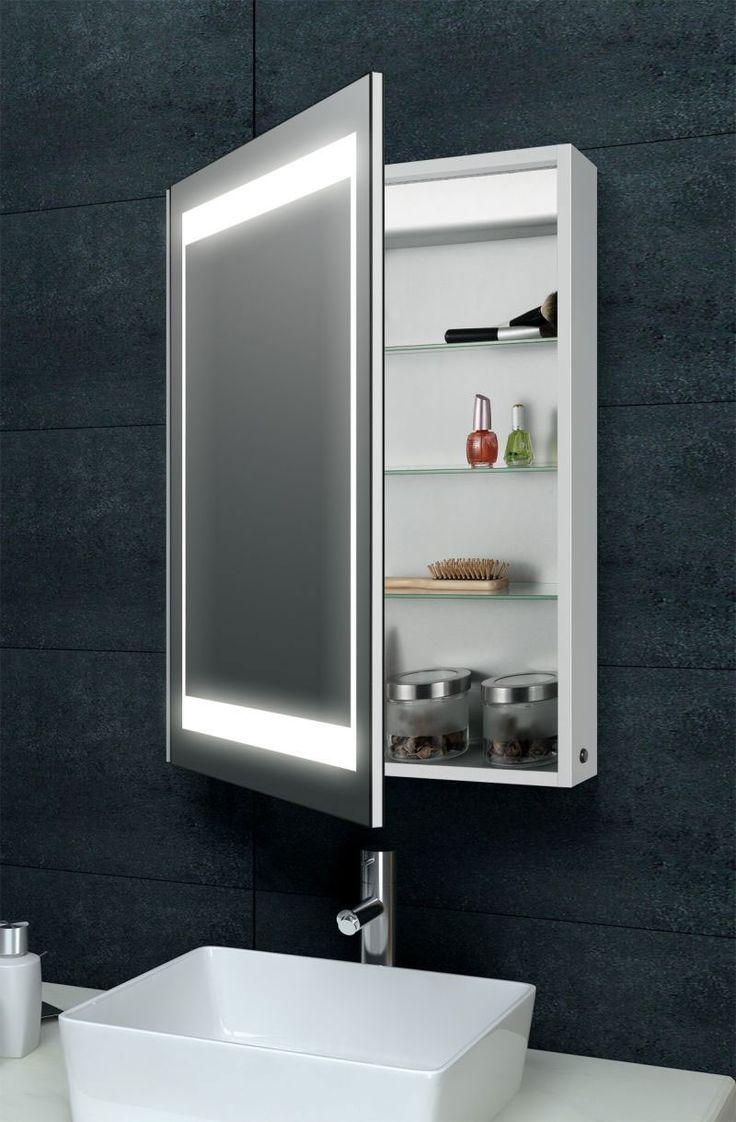 Mirrored Bathroom furniture laura aluminium backlit mirrored bathroom cabinet XLNEUIC