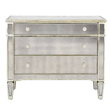 mirrored dresser borghese mirrored 3 drawer chest LINSRDX