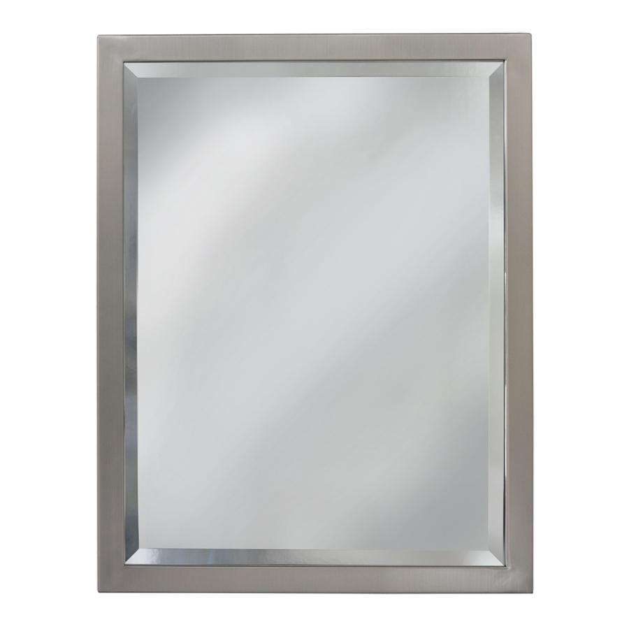 mirrors for bathrooms allen + roth 24-in w x 30-in h rectangular bathroom mirror ULGGNDI