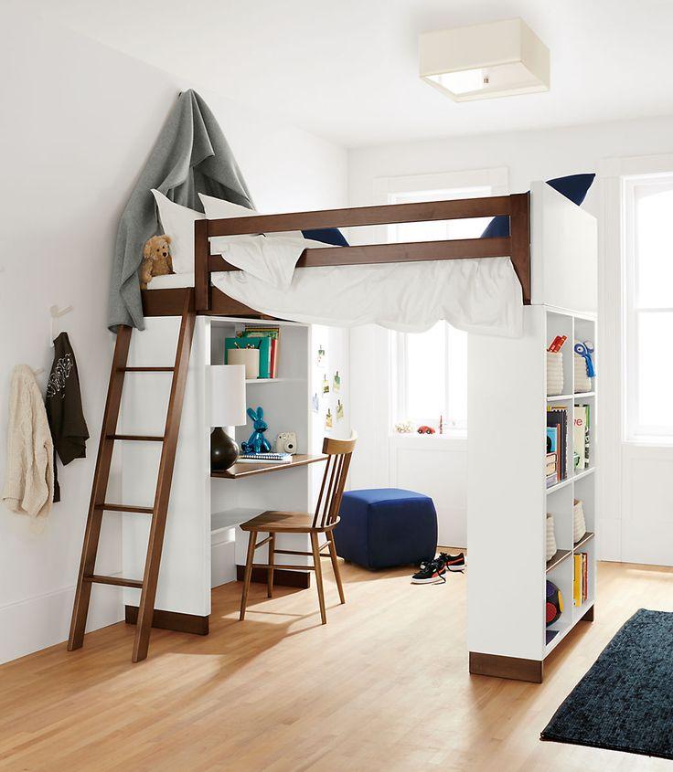 moda loft beds with desk and bookcase options BPWMLRS