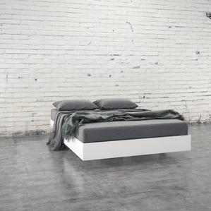 modern bed frames 345403 full size platform bed (white) NXGRYEX