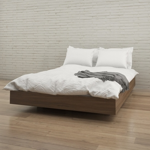 modern bed frames 346031 alibi queen size platform bed (walnut) VAREVIR