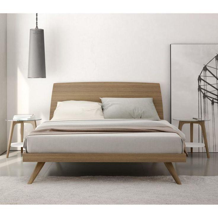 modern bed frames bedroom. modern mid century natural color walnut king size platform bed.  amazing UBYRJXX